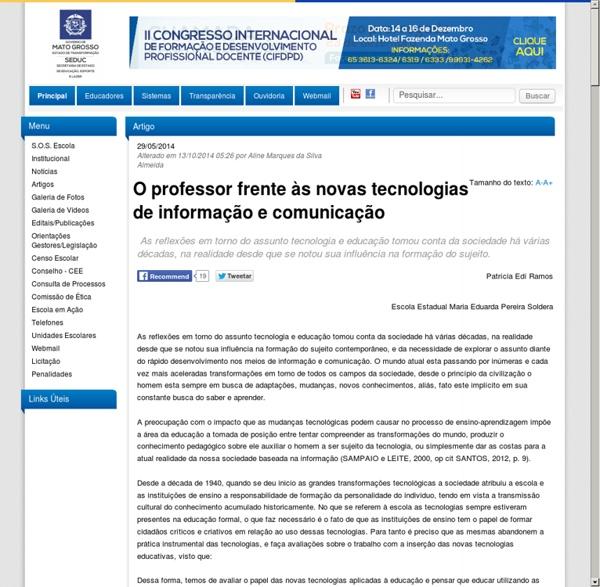 Site - SEDUC Mato Grosso do Sul
