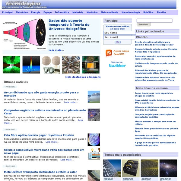 Site Inovação Tecnológica - Tudo o que acontece na fronteira do conhecimento