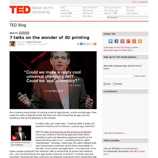 7 TED Talks on the wonder of 3D printing
