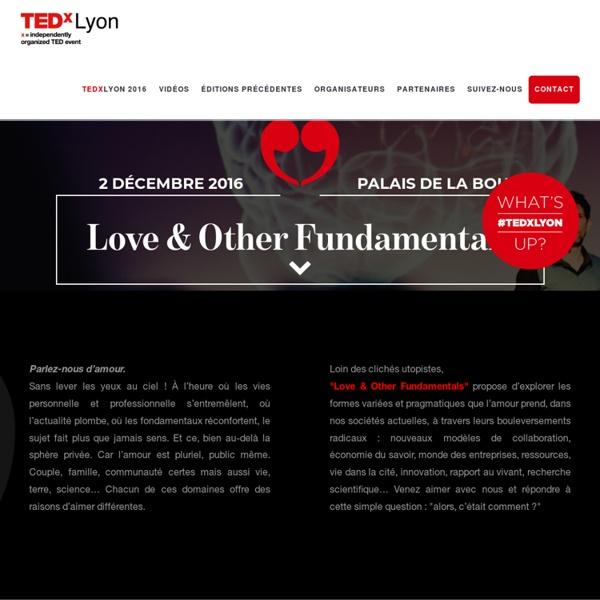 TEDxLyon - La sérendipité - Janvier 2015