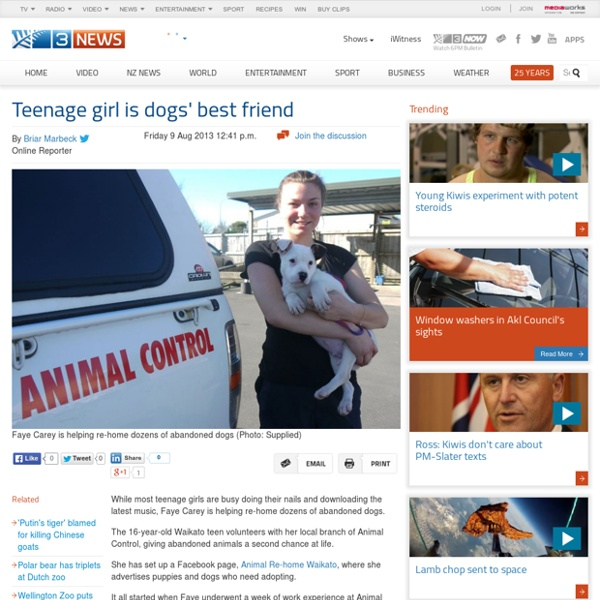 Teenage girl is dogs best friend