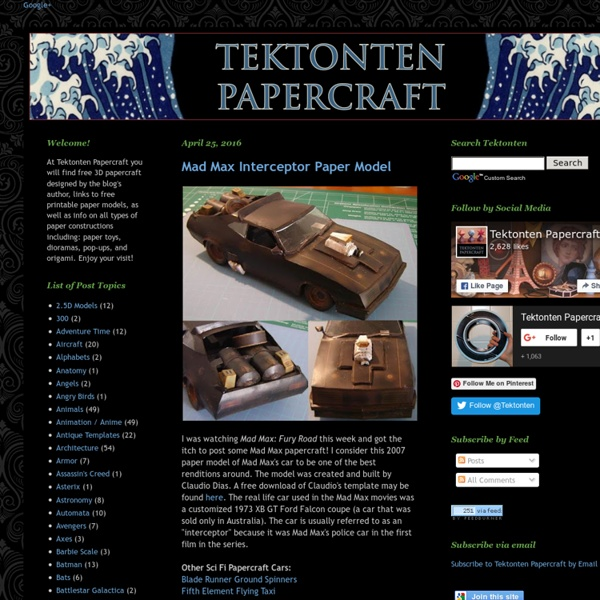 Tektonten Papercraft - Free Papercraft, Paper Models and Paper Toys