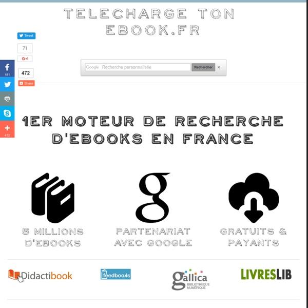 Telecharge TonEbook.fr - Moteur de recherche d'ebooks