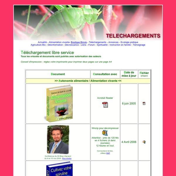 Ecolo DIY eBooks - Livre de recettes et formation en alimentation vivante (crue), guide culture de spiruline à la maison, guides pratiques toilettes sèches