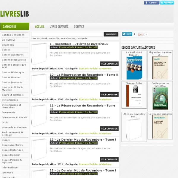 Ebooks Gratuits - Livres à Télécharger Gratuitement - Livre en Ligne