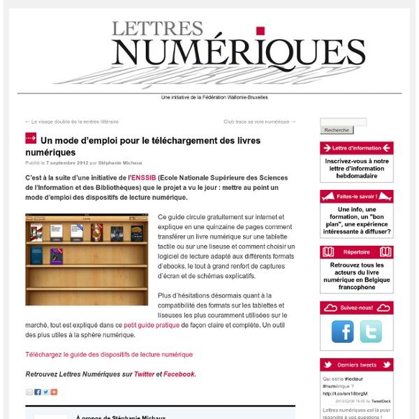 Un mode d'emploi pour le téléchargement des livres numériques