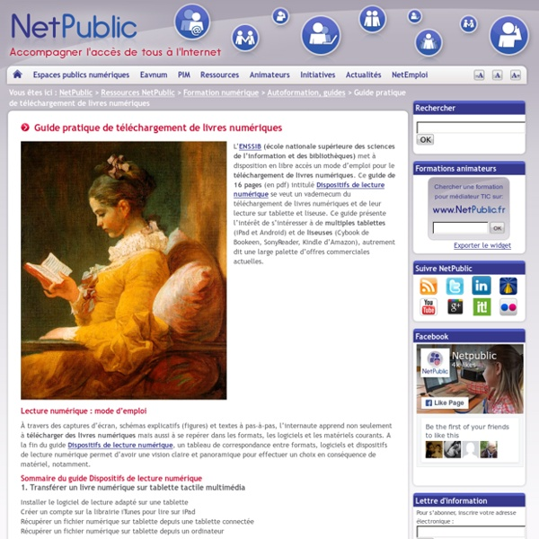 Guide pratique de téléchargement de livres numériques