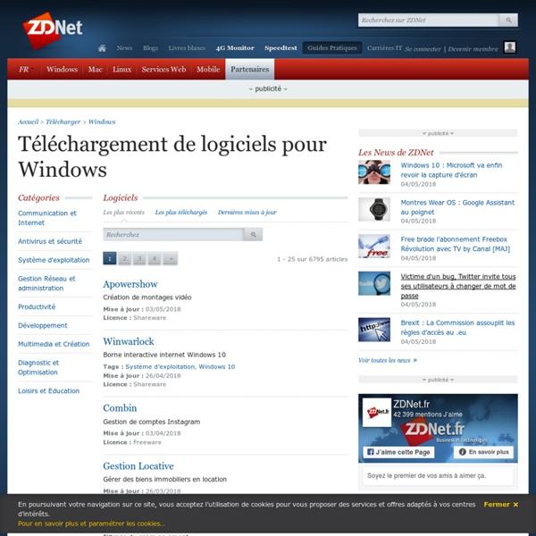 Téléchargement de logiciels pour windows