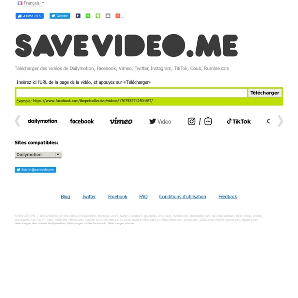 Télécharger Vidéos Dailymotion, Viméo, Facebook...