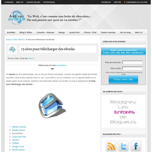 13 sites pour télécharger des ebooks
