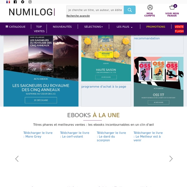 Ebooks en promotion à télécharger, ebookstore Numilog.com