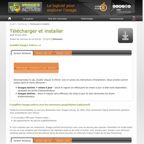 Images actives : Télécharger et installer - CRDP Versailles