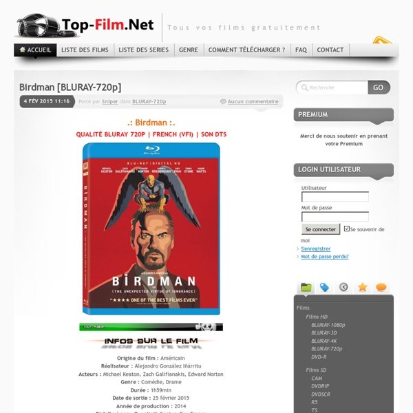 Télécharger vos films gratuitement