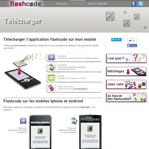 Téléchargez flashcode sur votre smartphone, votre iPhone ou votre mobile Android