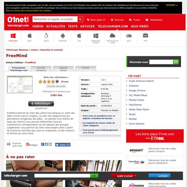 FreeMind sur 01net.com