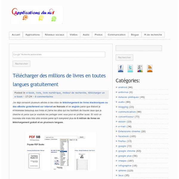 Télécharger des millions de livres en toutes langues gratuitement
