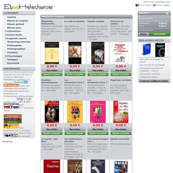 Les meilleurs ebooks en français à télécharger gratuitement
