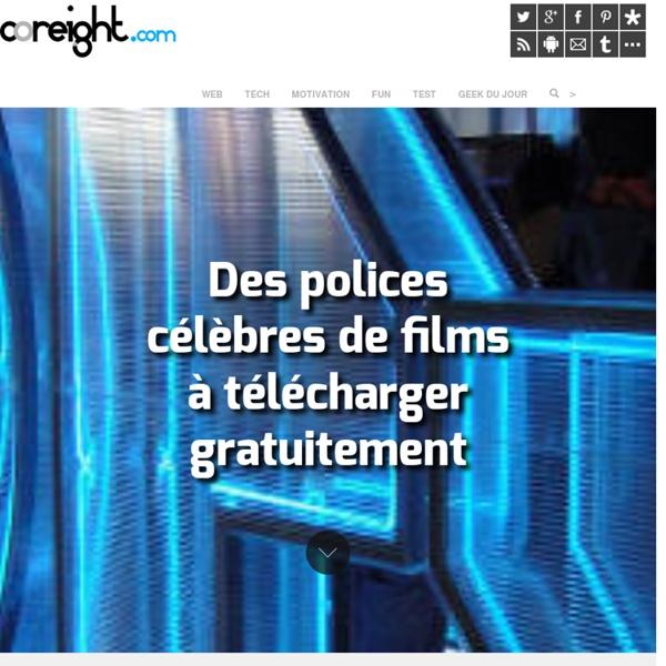 Des polices célèbres de films à télécharger gratuitement