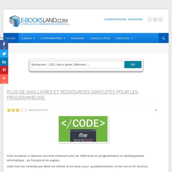 E-booksLand.Com : Telecharger des Livres (ebooks) gratuitement sur MediaFire et Uptobox