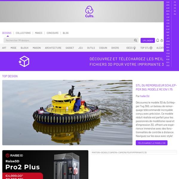 cults t l charger des mod les 3d gratuits ou payants pour imprimante 3d pearltrees. Black Bedroom Furniture Sets. Home Design Ideas