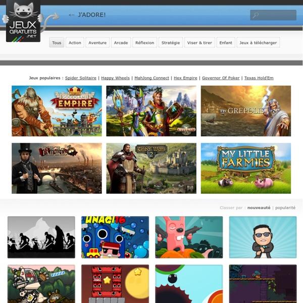 Jeux gratuits en ligne et à télécharger. Action, arcade, aventure, etc. Vous trouverez un jeu gratuit à votre goût