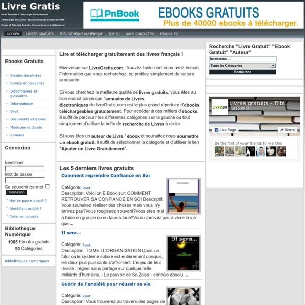 Livres Gratuits -Télécharger des ebooks gratuits sur LivreGratis.com