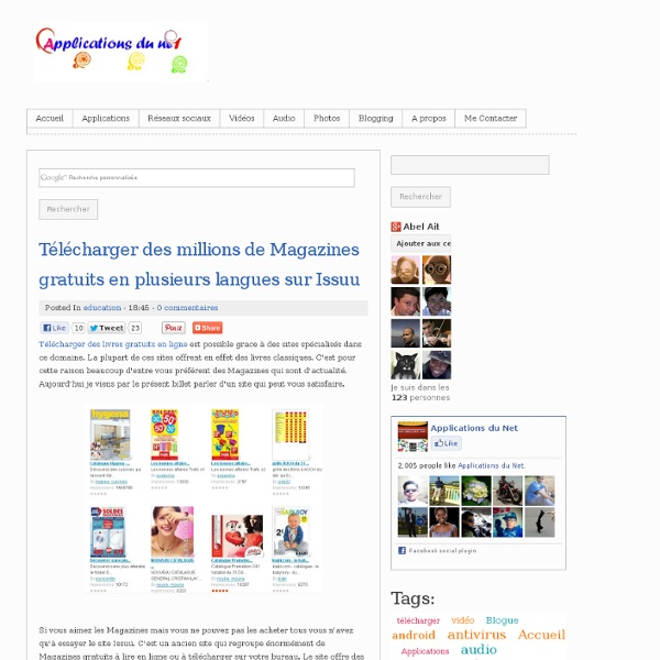 Télécharger des millions de Magazines gratuits en plusieurs langues sur Issuu