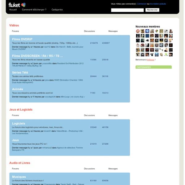 Télécharger sur megaupload rapidshare et free, films, séries, logiciels, musiques, jeux, ebooks :fluket