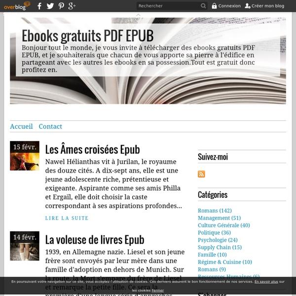 Ebooks gratuits PDF EPUB - Bonjour tout le monde, je vous invite à télécharger des ebooks gratuits PDF EPUB, et je souhaiterais que chacun de vous apporte sa pierre à l'édifice en partageant avec les autres les ebooks en sa possession.Tout est gratuit don
