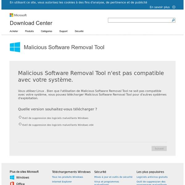 Outil de suppression de virus Microsoft