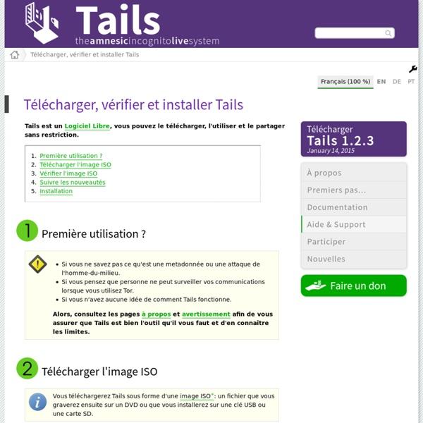 Télécharger, vérifier et installer Tails