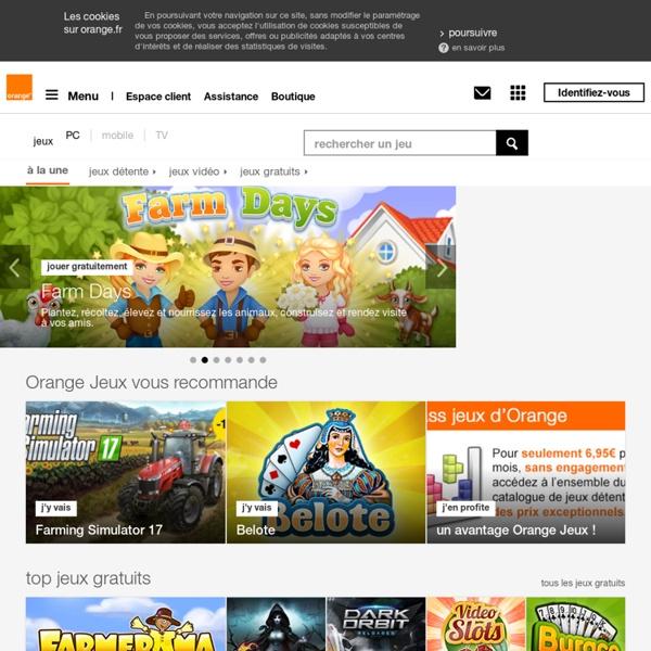 Jeux à télécharger, jeux vidéo PC à télécharger, jeu gratuit en ligne avec Orange.fr