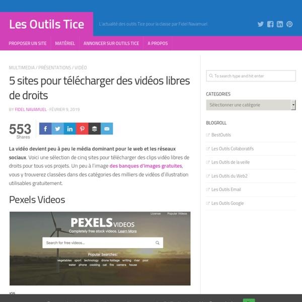 5 sites pour télécharger des vidéos libres de droits