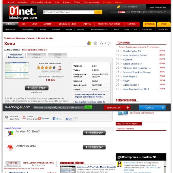 Télécharger Xenu - 01net.com - Telecharger.com