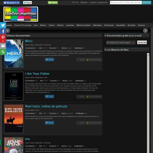 TeleDocumentales - La mejor colección de documentales online en español de la red.