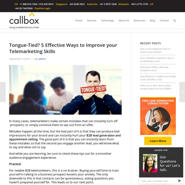 Tongue-Tied? 5 Effective Ways to Improve your Telemarketing Skills - B2B Lead Generation Company Malaysia