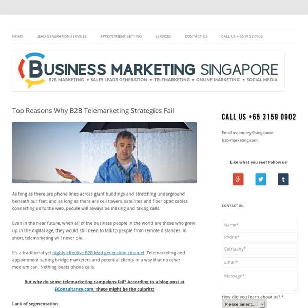 Top Reasons Why B2B Telemarketing Strategies Fail
