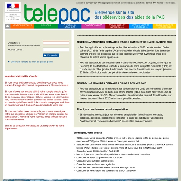 Telepac - Téléservices des aides de la PAC