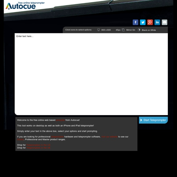 Free Teleprompter Online - Autocue QTV