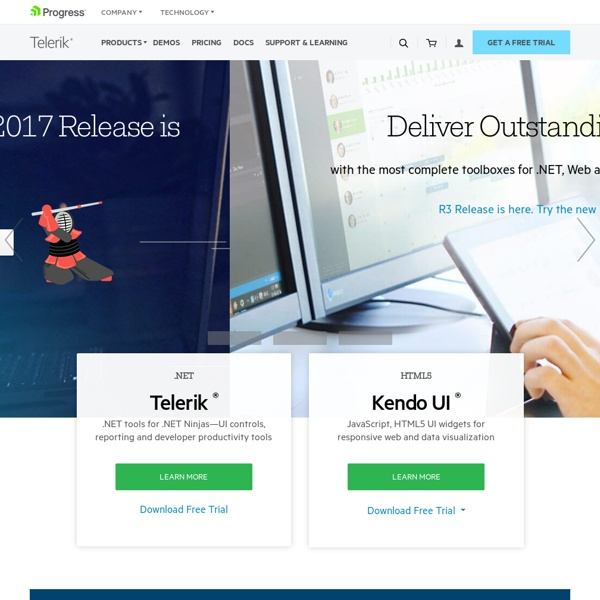 Telerik .NET UI Controls, Reporting, Visual Studio Tools, Agile Project Management, Automated Testing, ASP.NET Web CMS