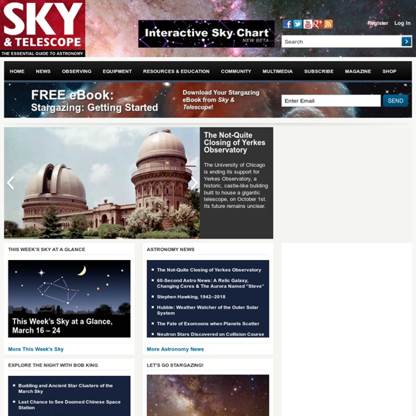 Astronomy News, Tools & Resources