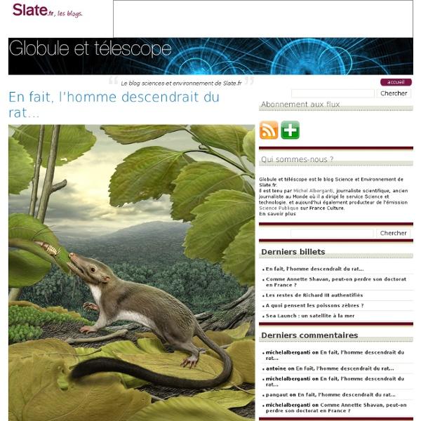 Le blog sciences et environnement de Slate.fr