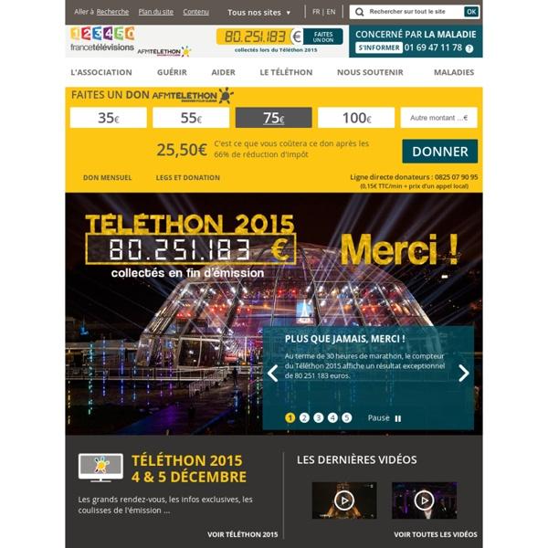Le site de don et d'information de l'AFM-Téléthon