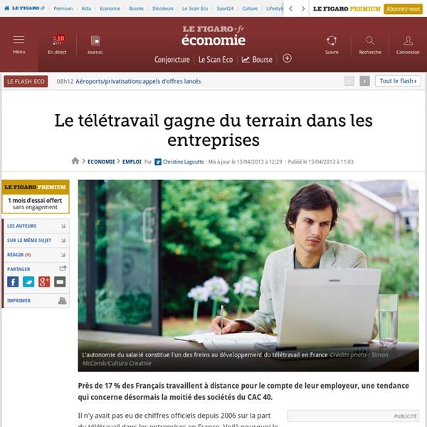 Le télétravail gagne du terrain dans les entreprises en France