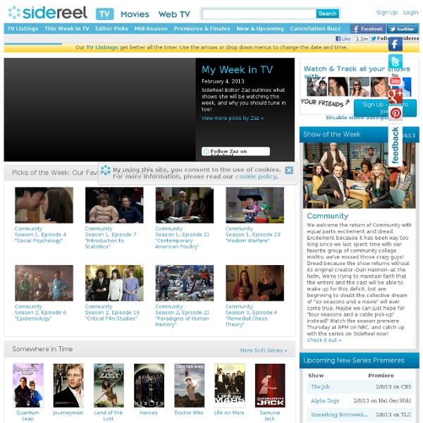 Online TV Shows - Free Television Series & More - SideReel
