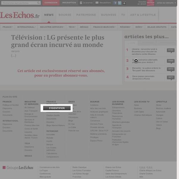Télévision: LG présente le plus grand écran incurvé au monde