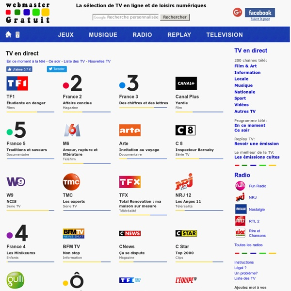Télévision en ligne : regarder la TV en direct