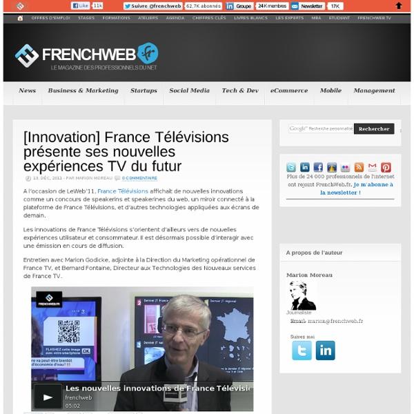 [Innovation] France Télévisions présente ses nouvelles expériences TV du futur