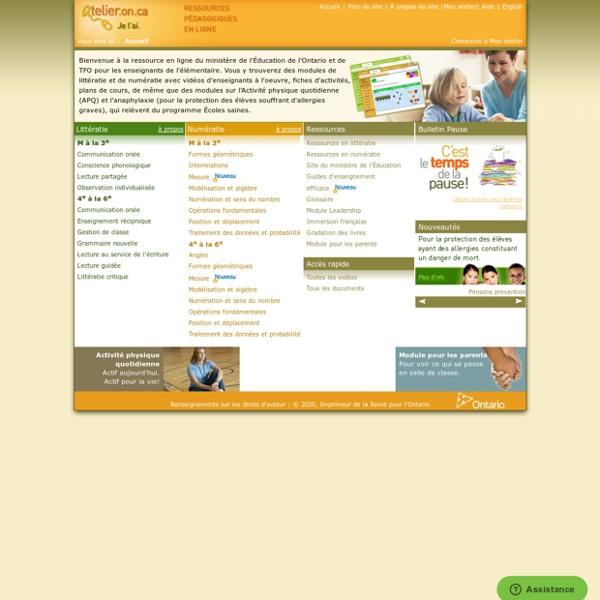 L'@telier - Ressources pédagogiques en ligne