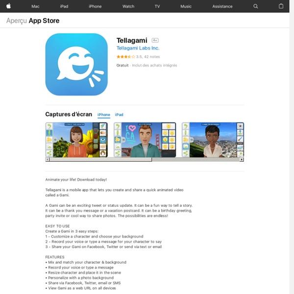 Tellagami pour iPhone, iPod touch et iPad dans l'App Store sur iTunes